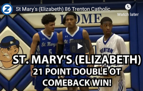St. Mary's Defeats Trenton Catholic 86-72 in Double OT