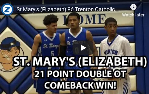St. Mary's Defeats Trenton Catholic 86-72 in Double OT