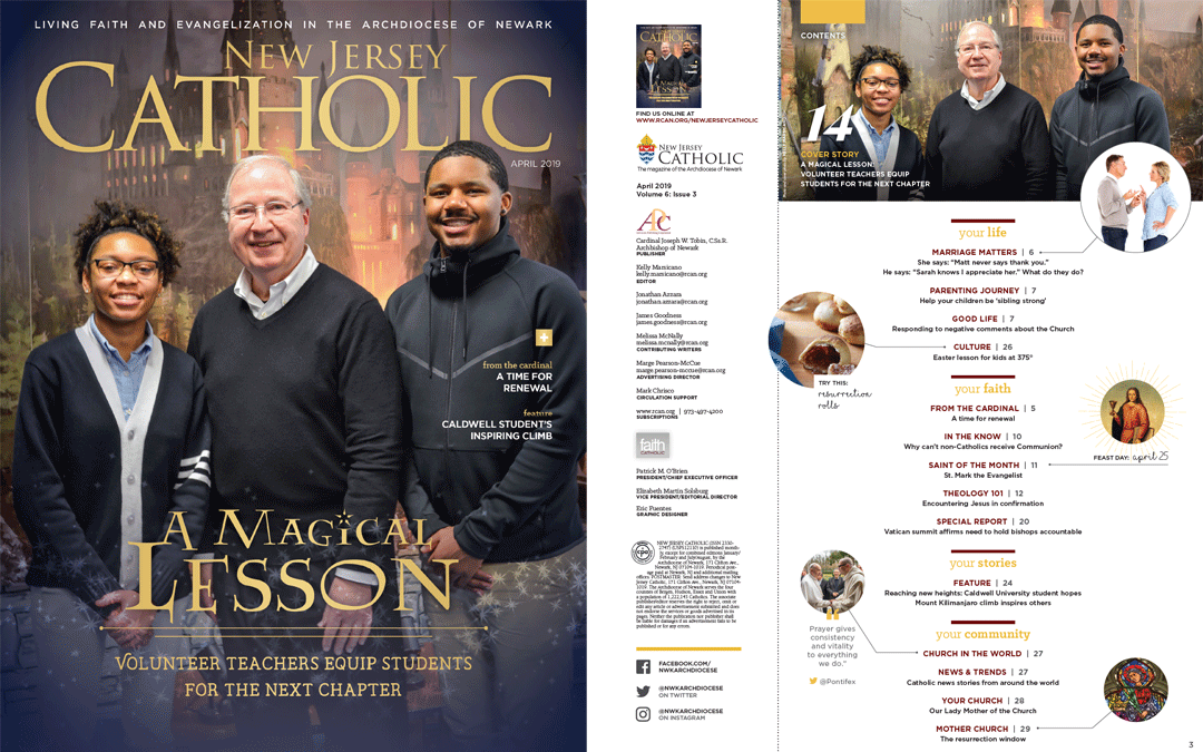 St. Mary's Makes the Cover of New Jersey Catholic Magazine