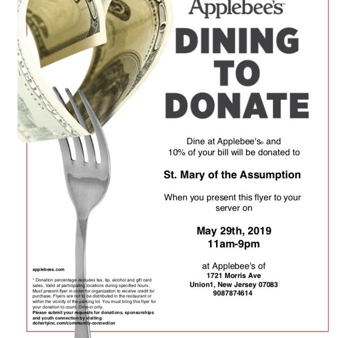 Applebee's Dining to Donate – May 29th